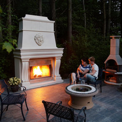 """Outdoor fireplace mantles - """"omega cast stone mantel"""" """"omega cast stone fireplace mantle"""" """"custom fireplace mantel """" """"outdoor fireplace mantle"""" """"custom fireplace overmantel"""" """"custom cast stone fireplace mantel"""" """"fireplace mantel design"""""""