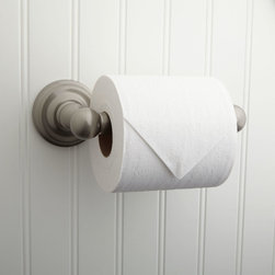 Nocona Toilet Paper Holder - The Nocona Toilet Paper Holder features smoothly rounded accents and an attractive finish that make it a perfect complement to a transitional-style bath.