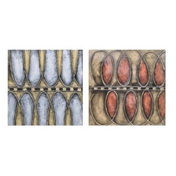 Crestview Collection - Crestview Collection Blythe Hand-Painted High-Gloss Textured Canvas Wall Art X-1 - Crestview Collection Blythe Hand-Painted High-Gloss Textured Canvas Wall Art X-1721POTVC