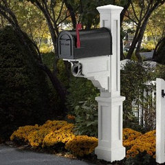 traditional mailboxes Mayne Dover White Mailbox Package