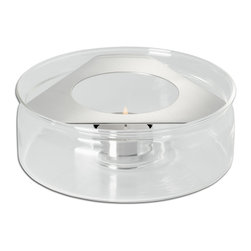 Mono - Ellipse Collection Warmer For 43 oz., Teapot - Heat meets chic. Pair this gleaming gadget with any 43-oz. teapot and let the tea light you place inside maintain the temperature of your tea for hours at a time.