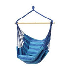 Blue Hanging Rope Chair - I bet this one is comfy. I could let it rock me to sleep.