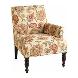 Liliana Armchair - This lovely chair is not too bulky and not too fussy in pattern; it's a nice update on a living room classic.
