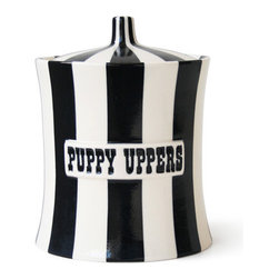 """Puppy Uppers - Dimensions: 8.75""""H. Made of high fired stoneware."""