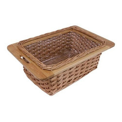 John Boos - Wicker Basket - Warranty: One year against manufacturing defects. Made from wicker. 11 in. W x 15 in. D x 6 in. H. Quick ship