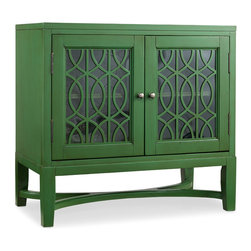 Hooker Furniture - Hooker Furniture Melange Emerald Fretwork Chest 638-85110 - Come closer to Melange, and you will discover something unexpected, an eclectic blending of colors, textures and materials in a vibrant collection of one-of-a-kind artistic pieces.