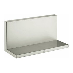 """Hansgrohe - Hansgrohe Axor Starck 9 1/2"""" Brass Shelf - Axor Starck 9 1/2"""" Brass ShelfSolid brass Needs rough #40878180 if installed in combination with other modules 9.5"""" Wide 4"""" Deep 4.75"""" Tall"""