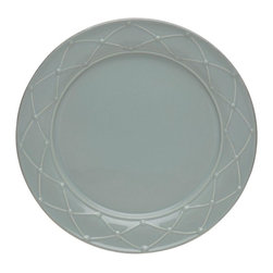 Casafina - Dinner Plate, Decorated, Blue - The Meridian stoneware collection offers a wide variety of dinnerware items as well as serving pieces.