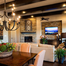 Traditional Family Room by Whitman Interiors