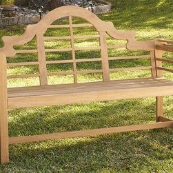 Southern Enterprises - Holly & Martin 5' Teak Davis Bench - Curved armrest. Made from 100% teakwood. Light brown finish. Made in Indonesia. Assembly required. Weight capacity: 450 lbs.. Bench seat: 65.75 in. W x 23.25 in. D x 18 in. H. Overall: 65.75 in. W x 23.25 in. D x 41 in. H (57 lbs.)Beautify your outdoors with this handsome teakwood bench that is gracefully designed. Comfortably relax outdoors with your loved ones with a sturdy bench that features slats on the seat for quick drying after a cooling rainfall. Perfect for the patio, deck or sunroom this durable bench is sure to be a welcome addition to any space.