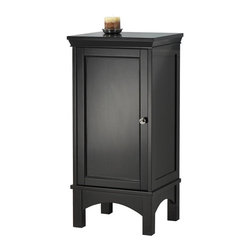 Pegasus - Haven Floor Cabinet - TREF1736D - Manufacturer SKU: TREF1736D. Transitional design. One inset door. Concealed euro style hinges. Polished chrome knob. One adjustable shelf behind door. Espresso finish. No assembly required. 17 in. W x 15 in. D x 35.5 in. H (41.8 lbs.)