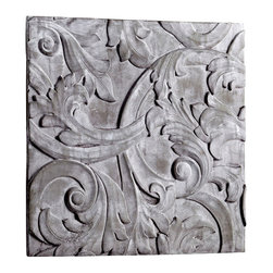 LaSalle Wall Decor - It may owe its intriguing elegance to the French country estates in Avignon, where the masterwork of stone craftsmen adorn everything from libraries to boudoirs. Crafted from Sandstone, the LaSalle Wall Decor boasts a neutral coloration that accentuates the scrollwork detail and lends the piece old-world allure. A dramatic addition to a personal art gallery, grand foyer, or master suite.