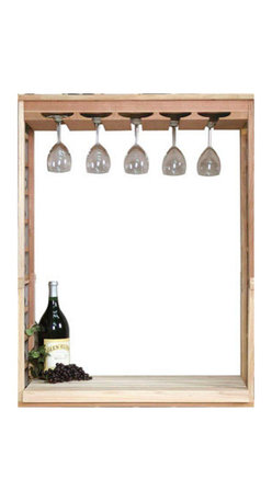 Wine Cellar Innovations - Vintner Wine Rack - Wine Glass Rack & Table Top Insert - Create a focal point with a Wine Glass Rack and Table Top insert kit. The wine glass rack will hold approx. 20 glasses, and the table top adds functional working space with in your wine cellar. This unit is designed to fit with in the Vintner Series Individual 130 Bottle Capacity Bottle Kit (INDGT), only, and will not stand alone with out it. It is also best complimented with a Center Trim molding kit. Moldings and platforms sold separately. Assembly required.