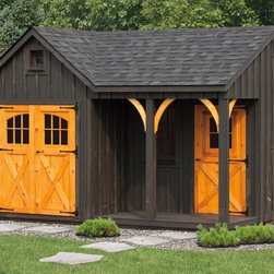 Outdoor Storage Structures - 12'x16' – 7' workshop – Porch Nook