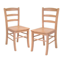 Winsome - Winsome Hannah Dining Wood Side Chairs in Light Oak Finish (Set of 2) - Winsome - Dining Chairs - 34232