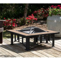 Fire Sense - Fire Sense Tuscan Tile Mission Style Square Fire Pit - Featuring the look of gorgeous Tuscan stone, our Tuscan