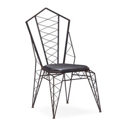 Volt Metal Chair - Set of 2 - Add structure and interest to your space with the Volt Metal Chair. The wire-frame design recalls high-voltage electrical pylons, making for a striking and fun seating option for your living space.