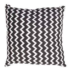 Jaipur - Mozambique Pillow, Black, 22x22 Set of 2 - Funky range of pillows in poly dupione use rich jewel tones expressed in a highly textural and fun way. Perfect for a touch of retro glamour in your home.