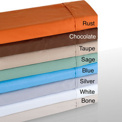 Windsor - Windsor Microfiber Solid Color 4-piece Sheet Set - These microfiber sheets are 100-percent polyester and made from a very light and breathable material. Available in several bright colors,the soft and comfortable sheets are machine washable.