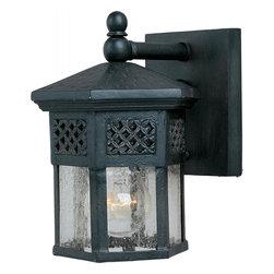 Joshua Marshal - One Light Country Forge Seedy Glass Wall Lantern - One Light Country Forge Seedy Glass Wall Lantern