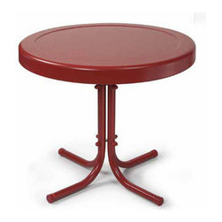"""Crosley - Griffith Metal 20"""" Side Table - Dimensions:  20-Inch W x 20-inch D x 19.5-inch H"""