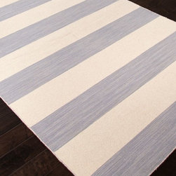 Jaipur - Solid/Striped Pura Vida 9'x12' Rectangle Medium Gray Area Rug - The Pura Vida area rug Collection offers an affordable assortment of Solid/Striped stylings. Pura Vida features a blend of natural Medium Gray color. Flat Weave of 100% Wool the Pura Vida Collection is an intriguing compliment to any decor.