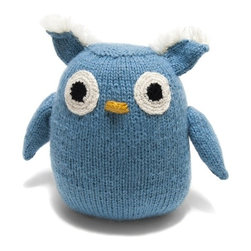 """Sitara Collections - Handmade Stuffed Alpaca Owl - This Handmade Stuffed alpaca Owl is an adorable Gift That is Sure to Delight. Each Stuffed Owl is Carefully Knit using omly the softest alpaca Yarn Before Making the Lomg Journey From the andes Mountains in Peru to the arms of the Little ome in Your Life. also available in a Bunny and Bear. alpaca, Sheep and acrylic Blend Yarn.100% Poly Fill.6""""L X 5""""W."""