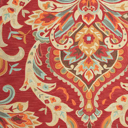 Jaipur Rugs - Transitional Floral Pattern Red /Orange Polyester Tufted Rug - BR29, 5x7.6 - A youthful spirit enlivens Esprit, a collection of contemporary rugs with joie de vivre! Punctuated by bold color and large-scale designs, this playful range packs a powerful design punch at a reasonable price.