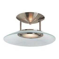 Access Lighting - Access Lighting 50451 Argon 1 Light Semi-Flush Ceiling Fixture - Product Features:
