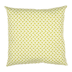 "Jaipur Rugs - Green/Ivory color polyester odl little hipster poly fill pillow 18""x18"" - These fashion forward pillows, in trellis, stripes and whimsical patterns are for both indoor and outdoor use."
