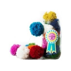 Little Lamb Pom-Pom Garland - Sweet handmade wool pom-pom garlands would be perfect for a colorful Christmas, or any time of year.