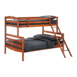 Night & Day Furniture - Night and Day Zest Sesame Twin / Full Bunk Bed - Includes a Drawers Set - Our Sesame Bunk Bed is engineered for economy; and built for the usual abuse. Sesame's solid hardwood frame is naturally strong and sturdy like all Night and Day Furniture products.