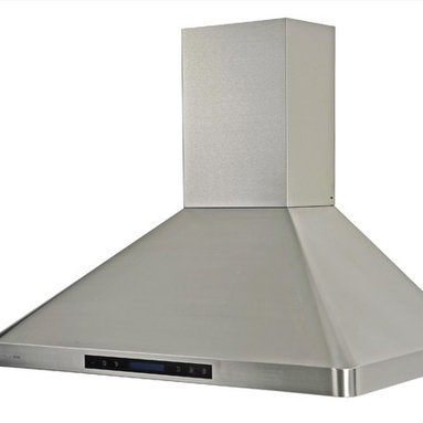 Cavaliere - Cavaliere-Euro AP238-PS31-36 Range Hood - Cavaliere Stainless Steel 288W Wall Mounted Range Hood with 4 Speeds, Timer Function, LCD Keypad,  Baffle Filters, and Halogen Lights