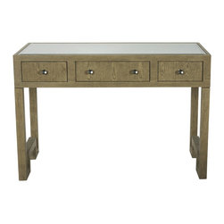 Worlds Away - Worlds Away Reece Desk/Console-Limed Oak - Color: Limed Oak/MirrorAs seen in Coastal Living March 2014 issue. **Refer to photo 3**