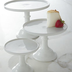 Milk Glass Cake Plates