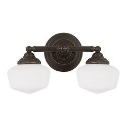 Sea Gull Lighting - Sea Gull Lighting 44437BLE Academy 2 Light Energy Star Bathroom Vanity Light - Features:
