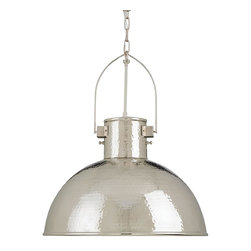 Currey - New Currey Large Pendant Nickel Brass - Product Details