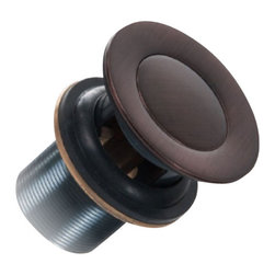 """Tuscan Bronze Traditional Pop-Up Drain With Overflow - Drains for vessel sinks are just as important as the sink you choose. Drains come in a variety of makes and finishes. This model is a traditional pop-up drain with an overflow built in.  Finished in tuscan bronze. Fits drain diameters of 1-3/4""""."""