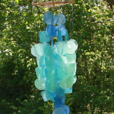 Tropical Outdoor Decor Handcrafted Capiz Shell Wind Chimes