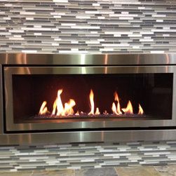 Contemporary Gas Fireplace - This is a Regency direct vent gas fireplace(HZ54).