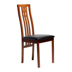 Aeon Furniture - Aeon Furniture District-2 Dining Chairs - Set of 2 - Cherry Multicolor - 2482-CH - Shop for Dining Chairs from Hayneedle.com! The curving elegance of the Aeon Furniture District-2 Dining Chairs - Set of 2 - Cherry makes for unmatched comfort and style you'll enjoy for years to come. These solid beechwood chairs have a stunning modern design brought out by simple geometric accents in the backrests. With just a little assembly this fine set will add a new spark to your dining set.
