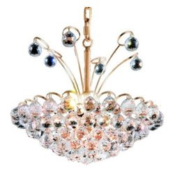 """PWG Lighting / Lighting By Pecaso - Brigitte 8-Light 18"""" Crystal Chandelier 6890D18G-EC - Drawing on the Empire style, the Brigitte Collection is transformed with a contemporary edge to create a dramatic explosion of brilliance. The Crystal Flush Mounts and smaller pendants provide a brilliant display of color bringing a decorative drama to any setting."""