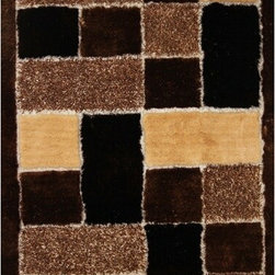 Rug Factory - Shaggy Design 30 Brown 2' x 3' Size Area Rug - Shaggy design 30 brown 2' x 3' size area rug. These shags offer a dense, shed free, easy to clean and sensuously soft surface that is sure to be a toe curling pleaser. Vibrant colors, geometric patterns and designs. are hand tufted using a blend of ultra fine raw materials for a plush and soft feel.