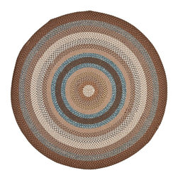Safavieh - Braided Braided Round 8' Round Brown - Multi Color Area Rug - The Braided area rug Collection offers an affordable assortment of Braided stylings. Braided features a blend of natural Brown - Multi Color color. Handmade of Polypropylene the Braided Collection is an intriguing compliment to any decor.