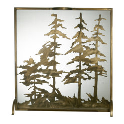 "Meyda Lighting - Meyda Lighting 27047 32""W X 33""H Tall Pines Fireplace Screen - Meyda Lighting 27047 32""W X 33""H Tall Pines Fireplace Screen"