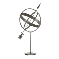 Arteriors - Dillon Armillary - If you're fascinated with the celestial sphere you'll appreciate the armilla, which is one of the most ancient of astronomical instruments. They were developed by the Greeks and were used as teaching tools in the 3rd century BCE. This one is made of natural iron.