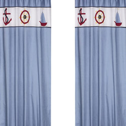 "Sweet Jojo Designs - Come Sail Away Window Panels (Set of 2) - Create a stylish look for your child's room with the Come Sail Away Window Panels (Set of 2). This set features 2 Window Panels that are 42"" x 84"" each."