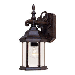 Savoy House - Savoy House Exterior Collections Outdoor Wall Mount Light Fixture in Tortuga - Shown in picture: Decorate your favorite outdoor spaces to bring a sense of style Al Fresco! Rustic Bronze Finish with Frosted Glass