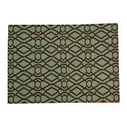 1800-Get-A-Rug - Hand Woven Light Green 100 Percent Wool Durie Kilim Reversible Rug Sh18155 - The Flat Weave hand woven rug is a type of area rug created by weaving wool onto a foundation of cotton warps on a loom. The Flat Weave rug offers the same beauty and durability as the classical thick-pile Oriental rugs, but without the telltale thick pile often spotted in other rugs. This gives the Flat weave a thin and flat appearance which resembles the Needlepoint, making them wonderfully ideal choices as accent rugs, wall hangings, or to drape over furniture and staircases.