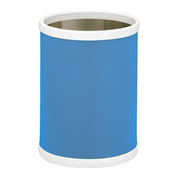 Kraftware - Bartenders Choice Fun Colors 10 in. Round Wastebasket in Blue - Made in USA. 10 in. Dia. x 12 in. H (1.5 lbs.)Our Fun Colors Collection features the hottest colors for the season, to provide you with great entertaining items, with up to the minute styling. Great for indoor and outdoor entertaining.